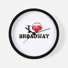 I love broadway Wall Clock