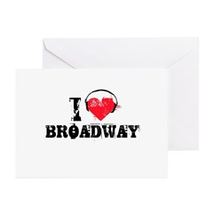 I love broadway Greeting Cards (Pk of 20)