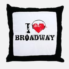 I love broadway Throw Pillow