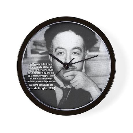 Louis de Broglie: Physics Wall Clock