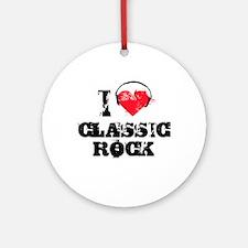 I love classic rock Ornament (Round)