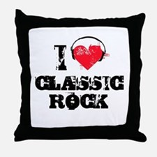 I love classic rock Throw Pillow
