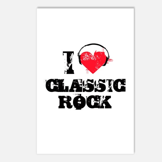 I love classic rock Postcards (Package of 8)