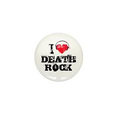I love death rock Mini Button (10 pack)
