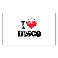 I love disco Rectangle Decal