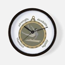 Pommel Horse: Four Attributes Wall Clock
