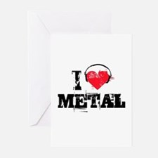 I love metal Greeting Cards (Pk of 10)