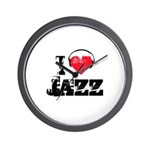 I love jazz Wall Clock