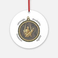 Men's Rings: Four Attributes Ornament (Round)