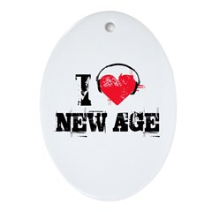I love new age Oval Ornament