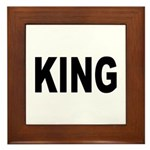 King Framed Tile