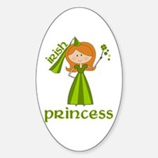 irish princess Oval Decal