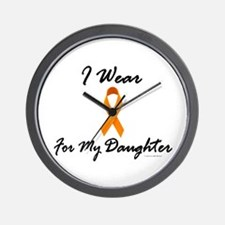 I Wear Orange For My Daughter 1 Wall Clock