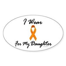 I Wear Orange For My Daughter 1 Oval Decal
