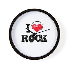 I love rock Wall Clock