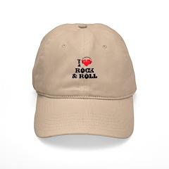 I love rock & roll Baseball Cap