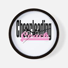 Cheerleading Coach (Pink) Wall Clock