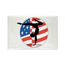 U.S.A Gymnastics Rectangle Magnet