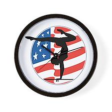 U.S.A Gymnastics Wall Clock