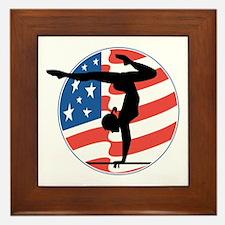 U.S.A Gymnastics Framed Tile
