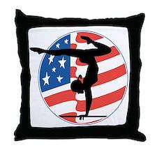 U.S.A Gymnastics Throw Pillow
