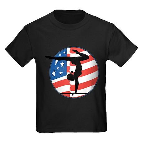 U.S.A Gymnastics Kids Dark T-Shirt