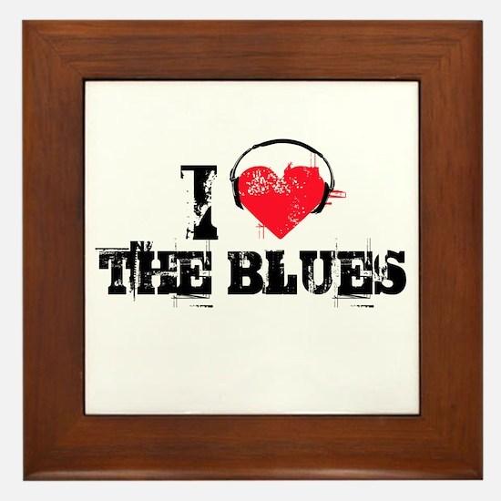 I love the blues Framed Tile