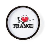 I love trance Wall Clock