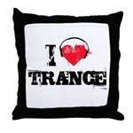 I love trance Throw Pillow