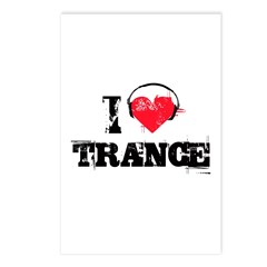 I love trance Postcards (Package of 8)