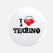 "I love techno 3.5"" Button (100 pack)"