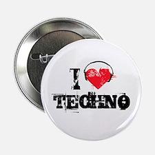 "I love techno 2.25"" Button (100 pack)"