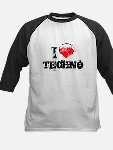 I love techno Kids Baseball Jersey