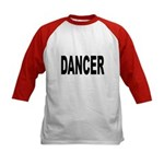 Dancer (Front) Kids Baseball Jersey