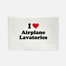 I love airplane lavatories Rectangle Magnet