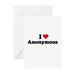 I love anonymous Greeting Cards (Pk of 20)