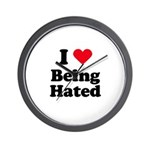 I love being hated Wall Clock