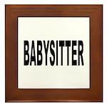 Babysitter Framed Tile