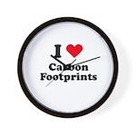 I love carbon footprints Wall Clock