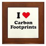 I love carbon footprints Framed Tile
