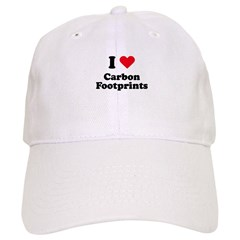 I love carbon footprints Baseball Cap