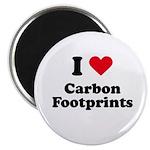 I love carbon footprints Magnet