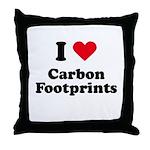I love carbon footprints Throw Pillow