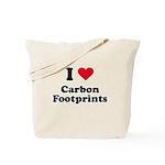 I love carbon footprints Tote Bag