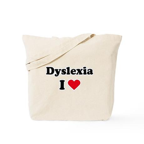 I dyslexia love / I love dyslexia Tote Bag