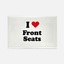 I love front seats Rectangle Magnet