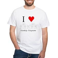 I Heart Kinship Diagrams T-Shirt