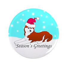 "Copper Siberian Husky 3.5"" Button (100 pack)"