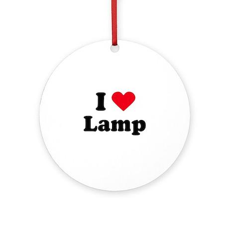 I love lamp Ornament (Round)