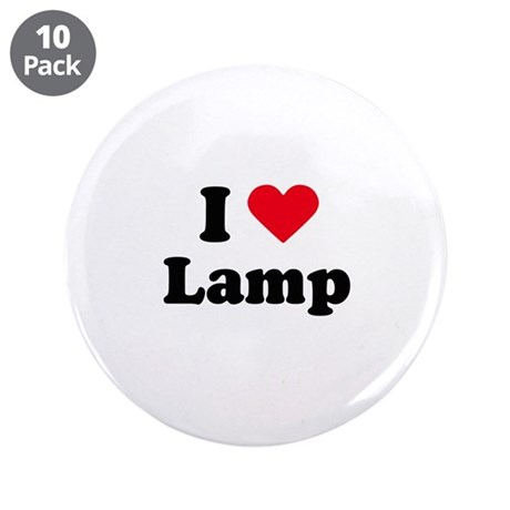 """I love lamp 3.5"""" Button (10 pack)"""